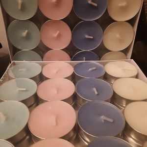 #3/$20 Tea Lights Scented 32 Count Variety Colors